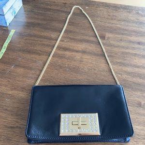 Black Michael Kors Leather Bag Gold Chain Strap